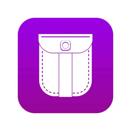Fashion jeans pocket icon digital purple for any design isolated on white vector illustration