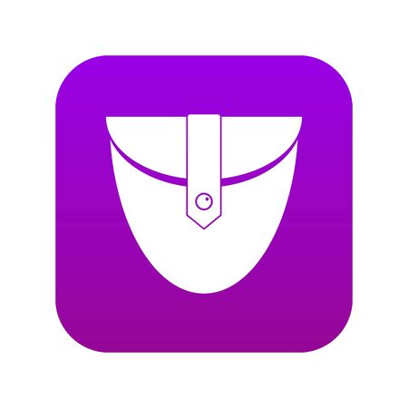 Small pocket patch icon digital purple for any design isolated on white vector illustration