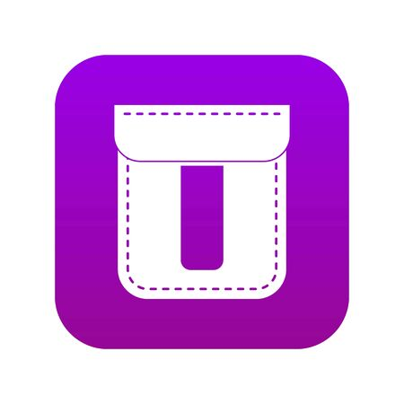 Black pocket icon digital purple 矢量图像