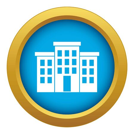 Building icon blue vector isolated Illustration