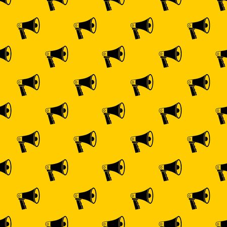 Loudspeaker pattern seamless vector repeat geometric yellow for any design Vector Illustration