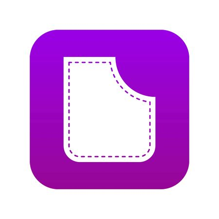 Abstract pocket icon digital purple for any design isolated on white vector illustration Çizim