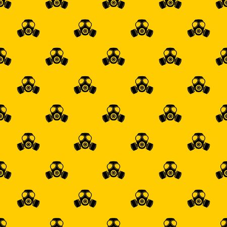Chemical gas mask pattern seamless vector repeat geometric yellow for any design