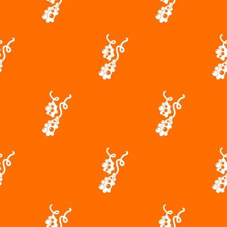 Micro vibrio pattern vector orange