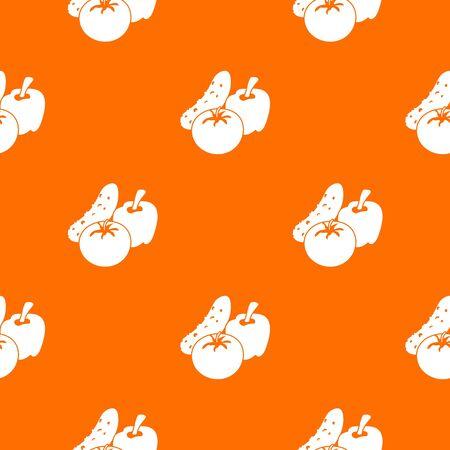 Vegetables food pattern vector orange for any web design best