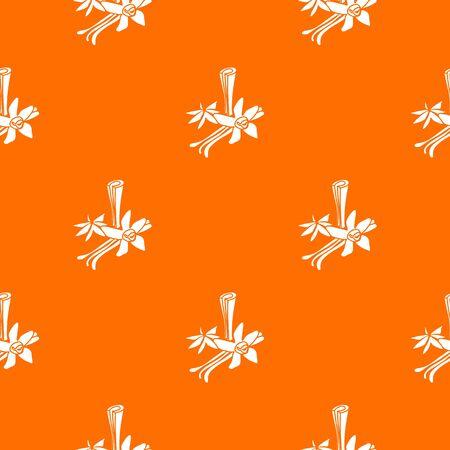 Spices pattern vector orange for any web design best Vektorgrafik