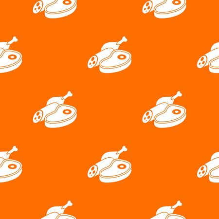 Meat food pattern vector orange for any web design best Çizim