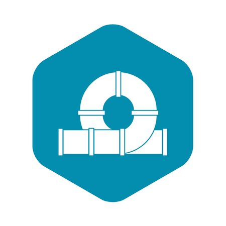 Playground slider water tube icon. Simple illustration of playground slider water tube vector icon for web