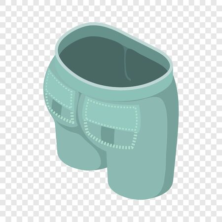 Gray green jeans icon. Isometric illustration of gray green jeans vector icon for web