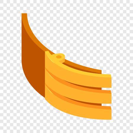 Gold badge belt icon. Isometric illustration of gold badge belt vector icon for web Çizim