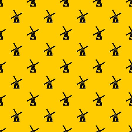Ancient windmill pattern seamless vector repeat geometric yellow for any design
