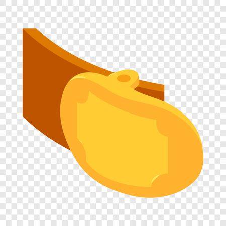 Badge belt icon. Isometric illustration of badge belt vector icon for web