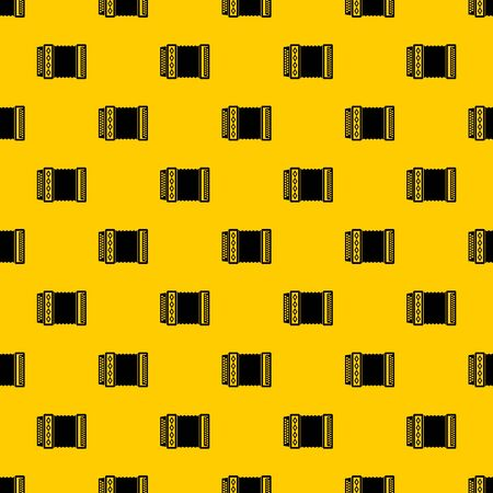 Accordion pattern seamless vector repeat geometric yellow for any design