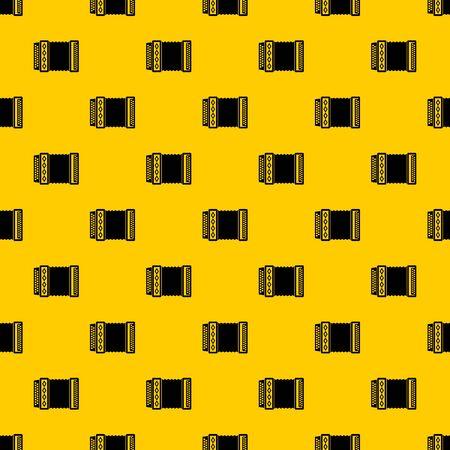 Akkordeonmuster nahtloser Vektor wiederholen geometrisches Gelb für jedes Design