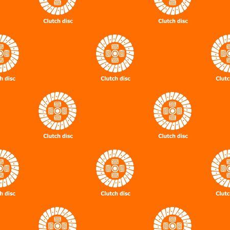 Clutch disc pattern vector orange for any web design best