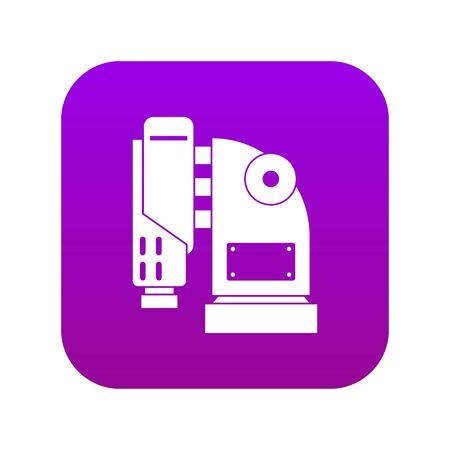 Pneumatic hammer machine icon digital purple
