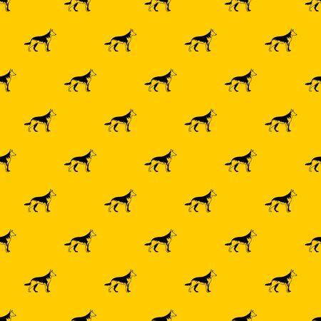 Shepherd dog pattern vector