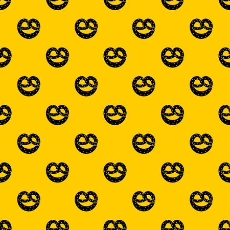Pretzels pattern seamless vector repeat geometric yellow for any design Vettoriali