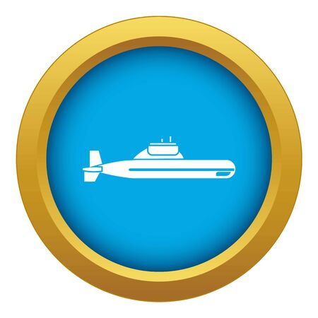 Submarine icon blue vector isolated on white background for any design