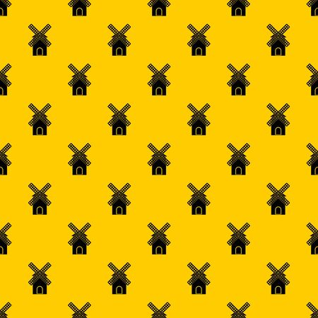 Mill pattern seamless vector repeat geometric yellow for any design