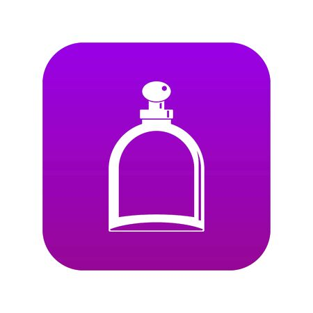 White glass bottle with perfume icon digital purple for any design isolated on white vector illustration Illustration