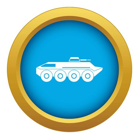 Armored personnel carrier icon blue vector isolated on white background for any design 向量圖像
