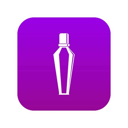 Elegant woman perfume glass bottle icon digital purple for any design isolated on white vector illustration Illustration