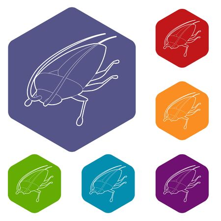Cockroach icon, outline style Stock Vector - 127778389