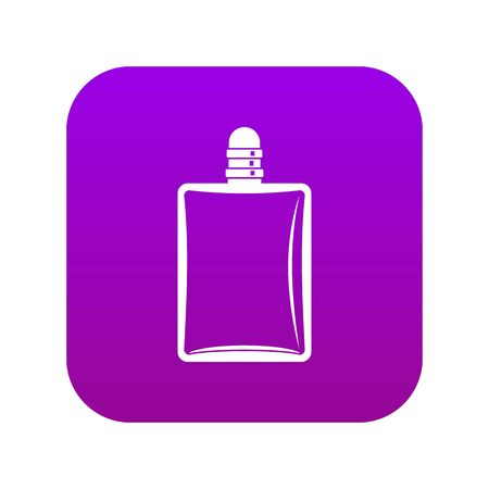 Bottle of female perfume icon digital purple for any design isolated on white vector illustration