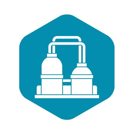 Oil processing factory icon. Simple illustration of oil processing factory vector icon for web Illustration