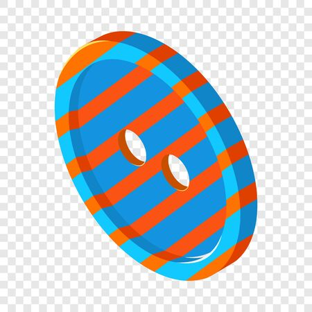 Striped button icon. Isometric illustration of striped button vector icon for web