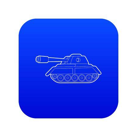 Tank icon blue vector