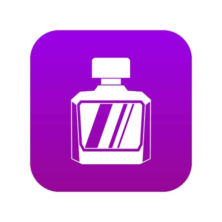 Jar of perfume icon digital purple for any design isolated on white vector illustration