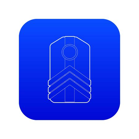 Shoulder straps icon blue vector