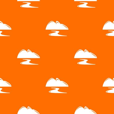 New gold mine pattern vector orange for any web design best Illustration