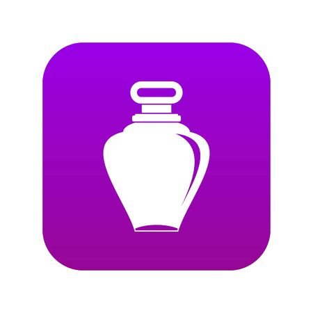 Parfume bottle icon digital purple for any design isolated on white vector illustration