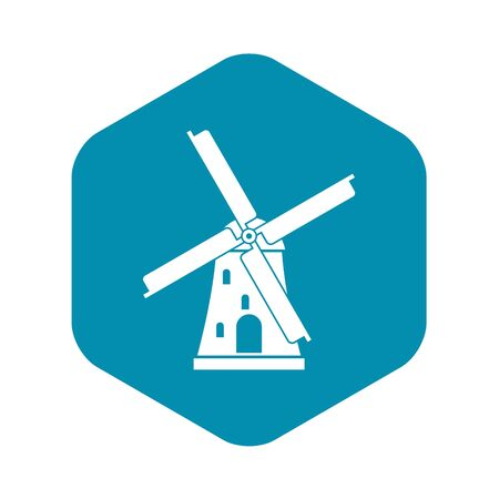 Ancient windmill icon. Simple illustration of ancient windmill vector icon for web