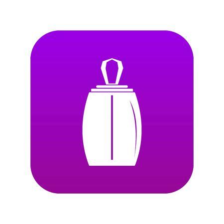Elegant woman perfume bottle icon digital purple for any design isolated on white vector illustration