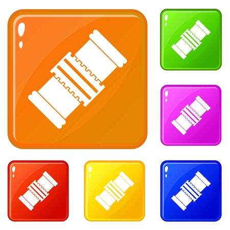 Repair detail icons set vector color