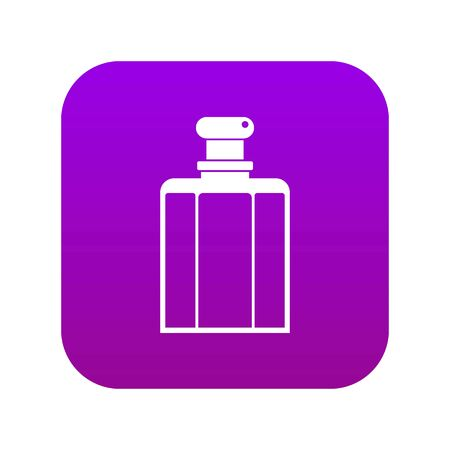 Bottle of female perfume icon digital purple for any design isolated on white vector illustration