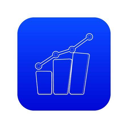 Diagram icon blue vector