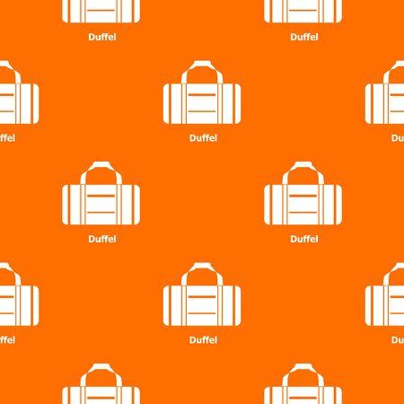 Duffel pattern vector orange for any web design best