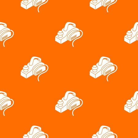 Hand power tool pattern vector orange for any web design best Vettoriali