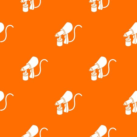 Air paint sprayer pattern vector orange for any web design best