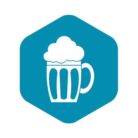 Beer icon, simple style Illustration