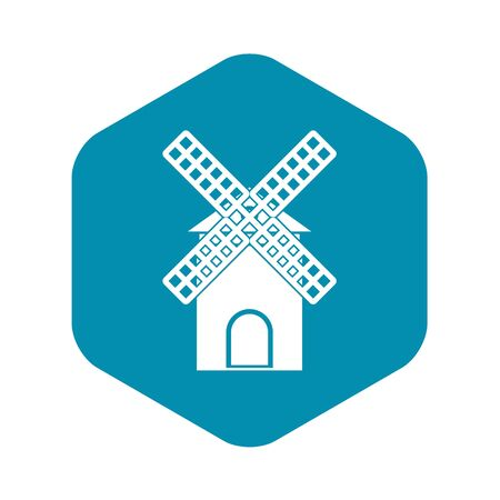 Mill icon. Simple illustration of mill vector icon for web