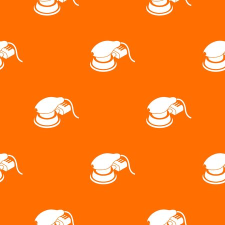 Circular sheet sander pattern vector orange for any web design best