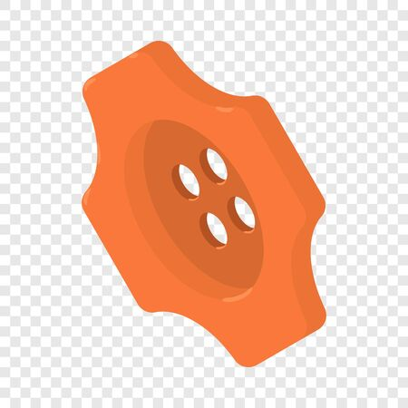 Orange button shirt icon, isometric 3d style