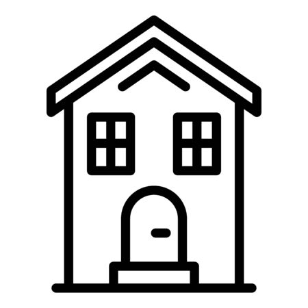 Cottage icon, outline style Vector Illustratie