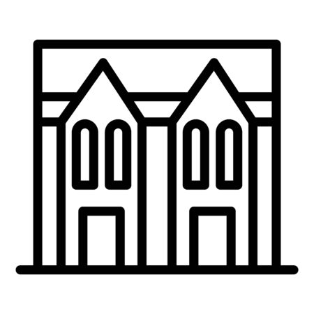 Gothic big house icon. Outline gothic big house vector icon for web design isolated on white background Illustration